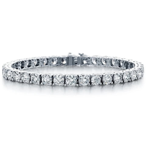 Classic Large Prong Set 7.10ctw Diamond Tennis Bracelet