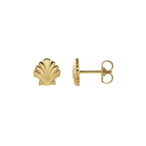Tiny Seashell Stud Earrings