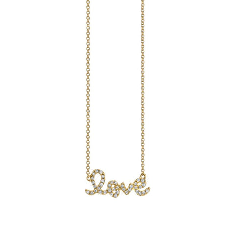 "Yellow Diamond Pave ""Love"" Pendant"