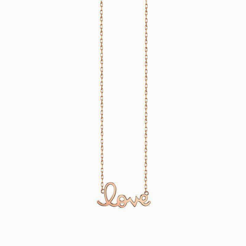 "Tiny Plain ""Love"" Pendant"