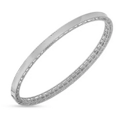 Symphony Princess Delicate Twisted Edge Stackable Bangle