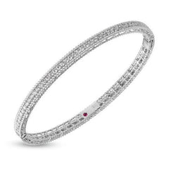 Symphony Princess Twisted Edge Diamond Stackable Bangle