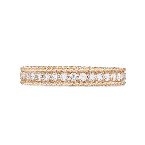 Princess Rose Gold Ring with Diamonds - Symphony