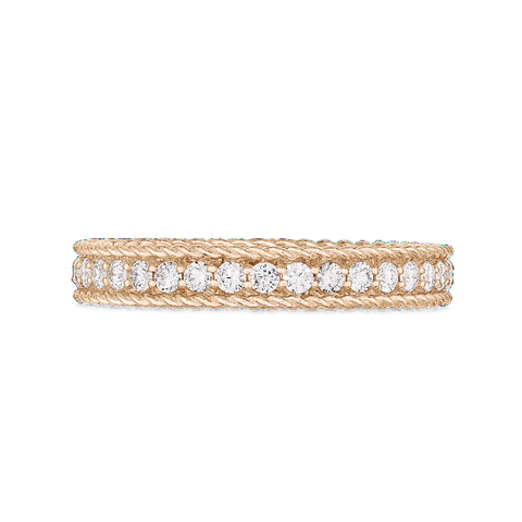 Princess Symphony Stacking Ring with Diamonds
