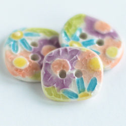 Calico Ceramic Button