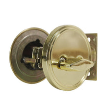 EACHPOLE |2-Pack| Round Single Cylinder Deadbolt with Thumb Turn Lock for Entry Door Garage Door, APL1524, Polished Brass