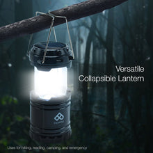 PARTYSAVING [4-Pack] Camping Hiking Solar Rechargeable LED Lantern with Dual Power Supply and Built-in Emergency Power Bank, APL1425
