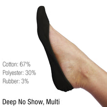 L'ESSENCE [6-Pairs] Low-Cut Deep Women's No-Show Socks Multi-Pack for Ultra-Low Flats High Heels , LSE1025, Color Variety Pack