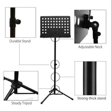 Maestro Extra Durable Metal Music Note Stand Orchestra Heavy Duty Tripod APL1281