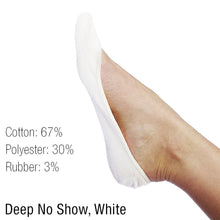 L'ESSENCE [6-Pairs] Ultra-Low Women's Deep No-Show Sock for Low-Cut High Heels Ballerina Flats Loafers Boat Shoes and Sneakers, White
