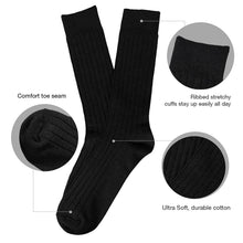 L'ESSENCE [4-Pack] Men's Casual Dress Crew Socks with Cushion Moisture Wicking Cotton Value Pack, LSE1007
