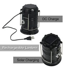 PARTYSAVING [2-Pack] 2-in-1 Solar Rechargeable LED Lantern with Dual Power Supply and Built-in Power Bank, APL1422