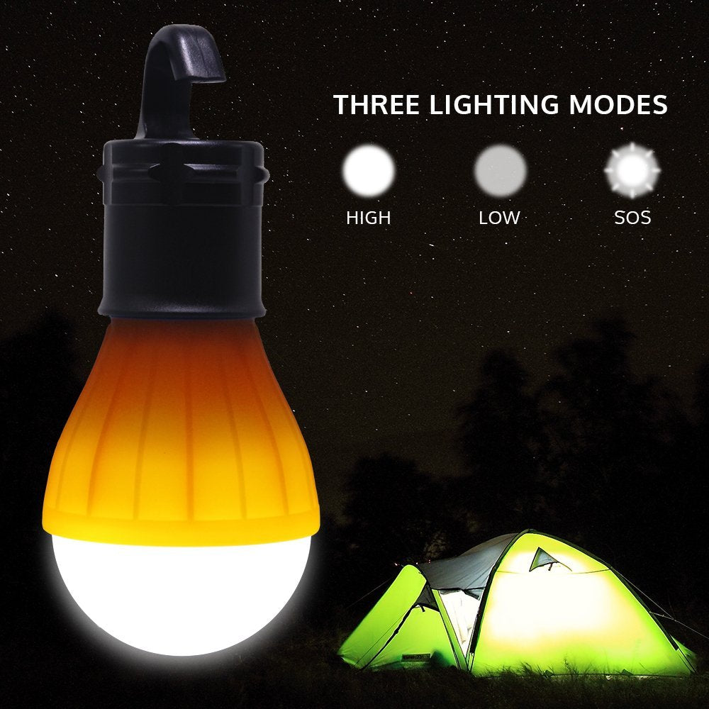 Portable LED Camping Lantern Tent Light with Easy to Hang Hook
