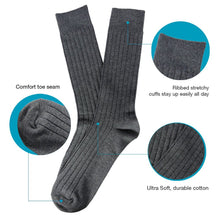 L'ESSENCE [4-Pack] Men's Crew Sock Cushion Casual Dress Trouser Moisture Wicking Cotton Color Variety Pack, LSE1005