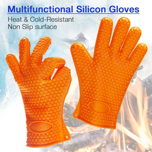 Heat Resistant Silicone Oven Gloves Mitts