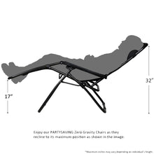 Patio and Outdoor Zero Gravity Reclining Chair