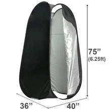 Partysaving 6 FT Portable, Privacy, Outdoor, Pop-up Room, Camping, Shower, Toilet Tent, APL1068