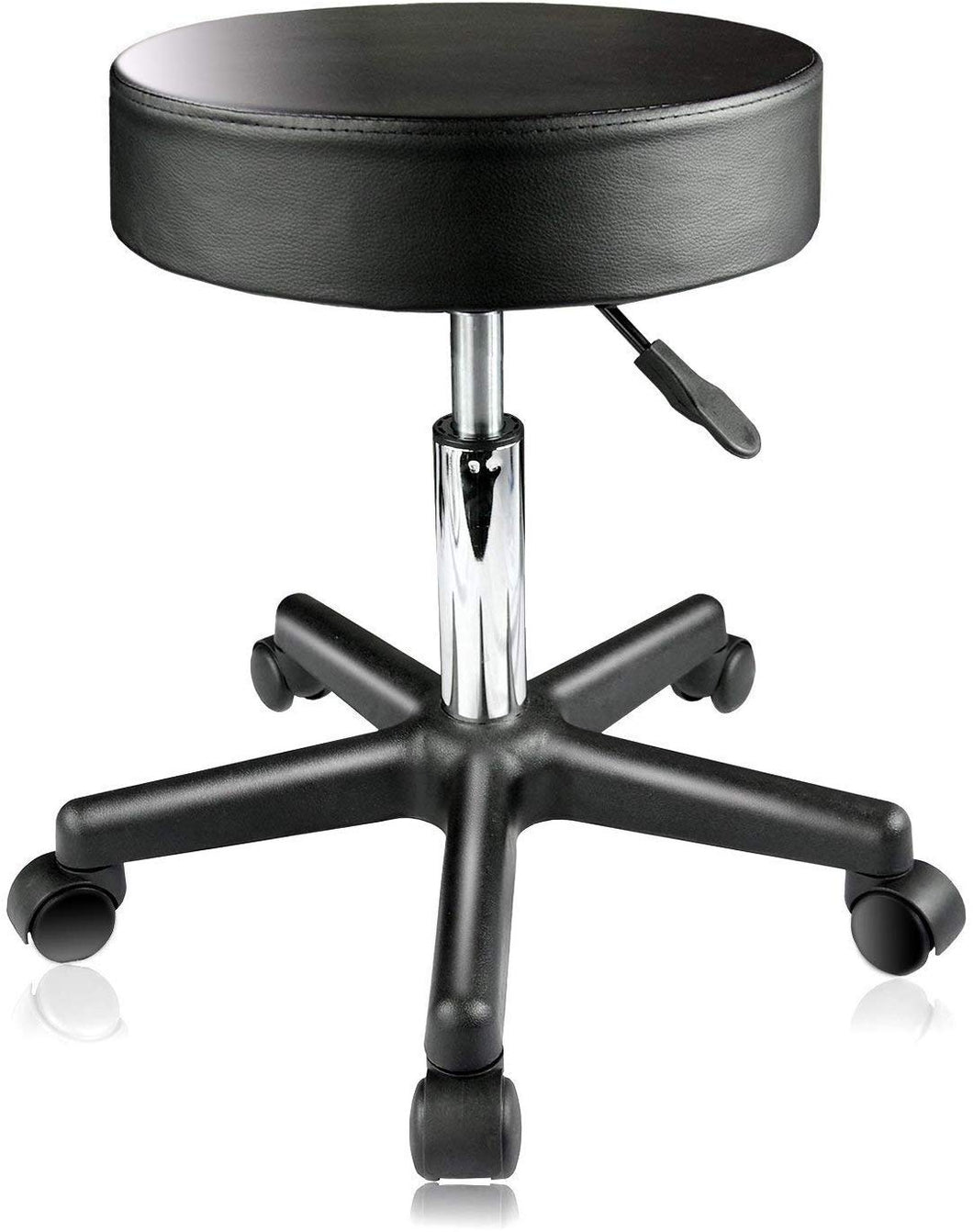 PARTYSAVING Supportive Adjustable Hydraulic Rolling Swivel Stool for Massage and Salon Office Facial Spa Medical Tatoo Chair Cushion & Wheels – Extra Large, SRE1311
