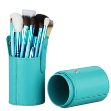 Makeup Brush 12 Pcs Set for Beginner Kit, Ocean Green