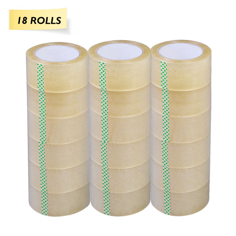 18 Rolls Value Pack Clear Packing Tape