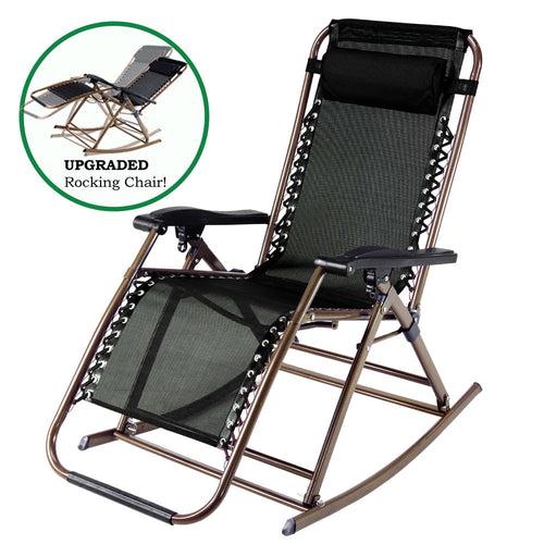 Patio and Outdoor Zero Gravity Rocking Chair