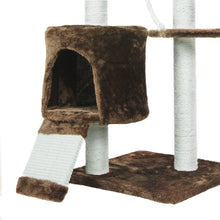Small Cat TreeCondo with Squeaking Mice, Brown