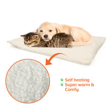 Self-heating Snooze Pad for Cat and Dog, White