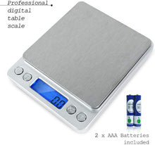 PARTYSAVING 2000g/0.1g Smart Digital Multifunction Stainless Steel Jewelry & Kitchen Food Scale, 0.001oz Resolution , SRE1319