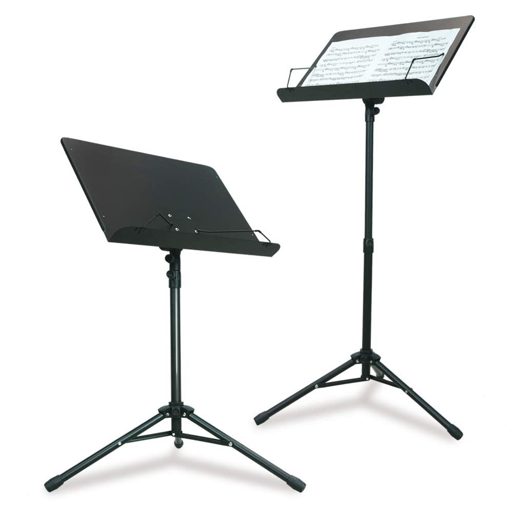PARTYSAVING Orchestra Sheet Music Stand with Heavy Duty Black Metal Folding Design, 48.5-inch Tall, SRE1406