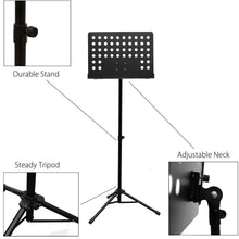 PARTYSAVING [2-Pack] Professional Collapsible Orchestra Sheet Music Stand, SRE1367