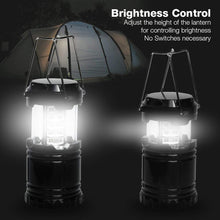 PARTYSAVING [4-Pack] Portable Bright Camping Light with Collapsible Design and 30 LED Lights, SRE1318