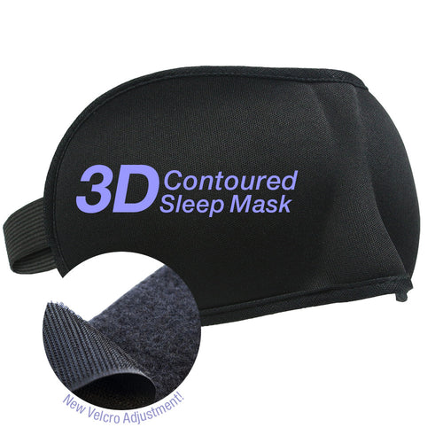 2 Pack Velcro Band 3-D Eye Mask