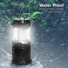 PARTYSAVING |3-Pack| LED Outdoor Camping Lantern with 30 Bright LED Chips Collapsible Design, SRE1399