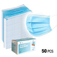 50 PCS Filter 3-Ply Disposable Medical Mask Anti Dust Mouth Masks Earloop Polypropylene Masks for Protect the Health, SRE1443