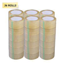 "Clear Packing Shipping Tape - 2"" X 110 Yards (330 ft) - 36 Rolls"