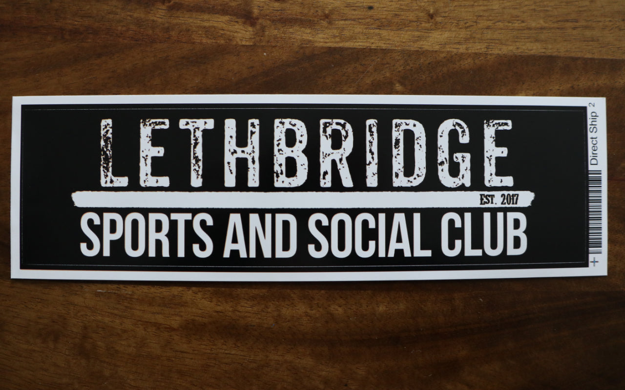 Bumper Sticker - Lethbridge Sports and Social Club