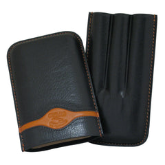 Turino Sport Black 3 Finger Cigar Cases - Humidors Wholesaler