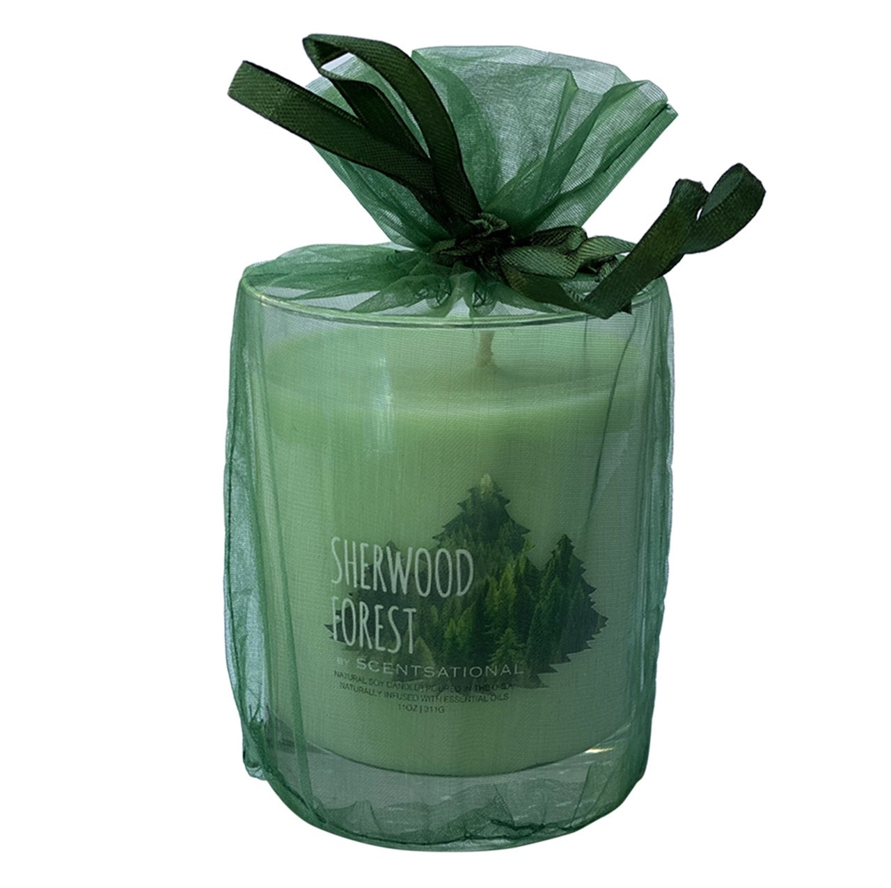 Scented Soy Candles PINE WOOD (11 oz) eliminates smoke, household, pet odors