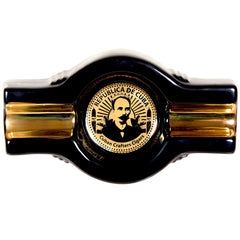 Patria Ceramic Ashtray, Black Onyx and Gold - Humidors Wholesaler