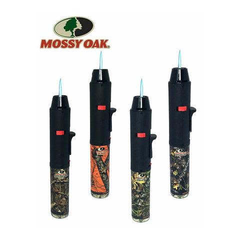 "Torch Eagle TURBO SINGLE JET 7"" Pen Torch Refillable w/Kickstand - Mossy Oak"