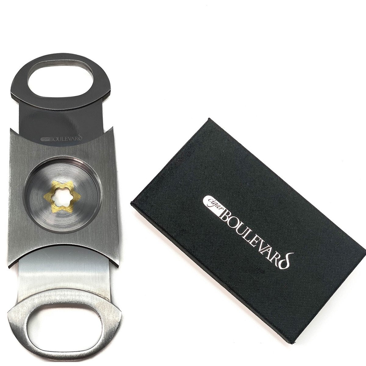 PERFECT CIGAR CUTTER STAR Stainless Steel.Up to 80 Ring Gauge Lifetime Guarantee