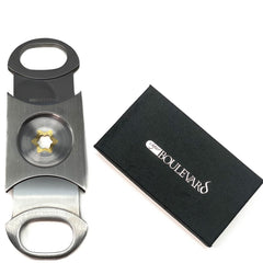 Cigar Boulevard PERFECT CIGAR CUTTER STAR Stainless Steel.Up to 80 Ring Gauge. Lifetime Guarantee