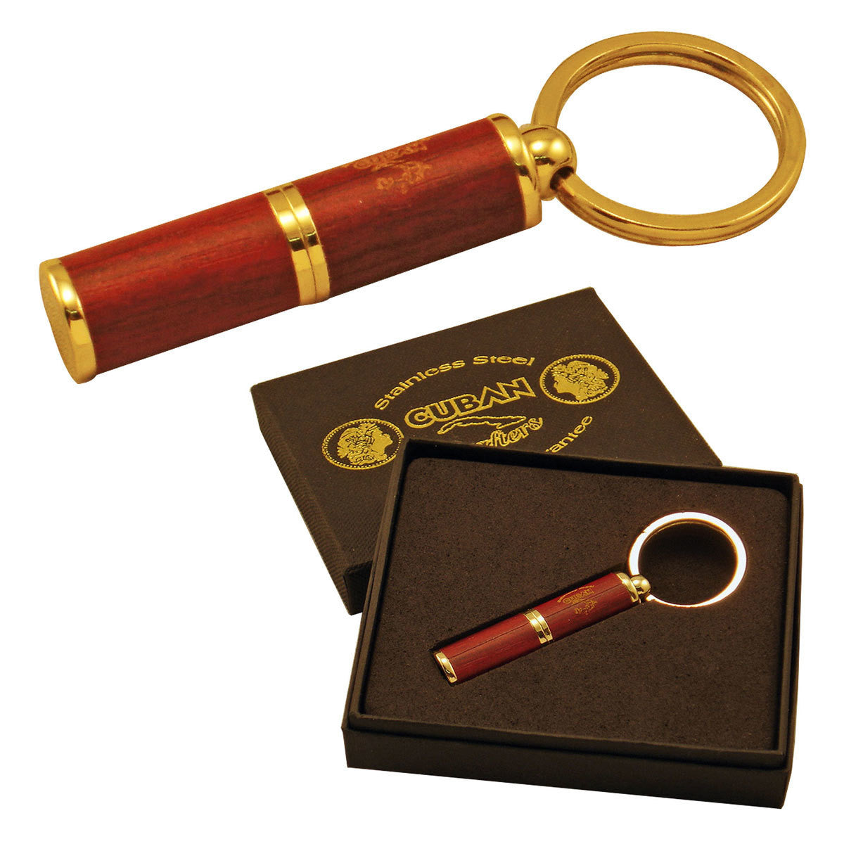 Punch Cigar Cutters all Stainless Steel Blade Cutter with RoseWood Body