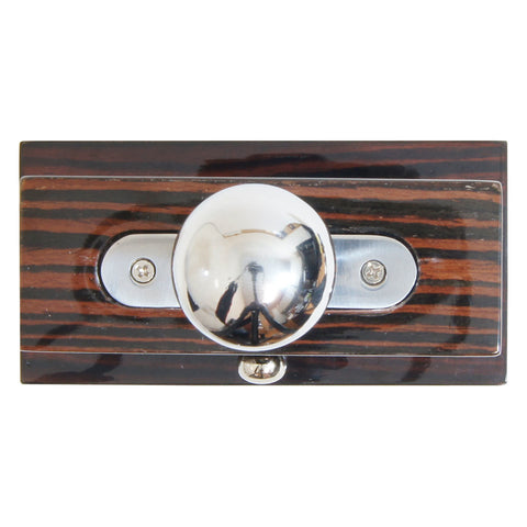 Tesoro Table Top Cigar Cutter High Gloss Ebony Silver Trim - Humidors Wholesaler