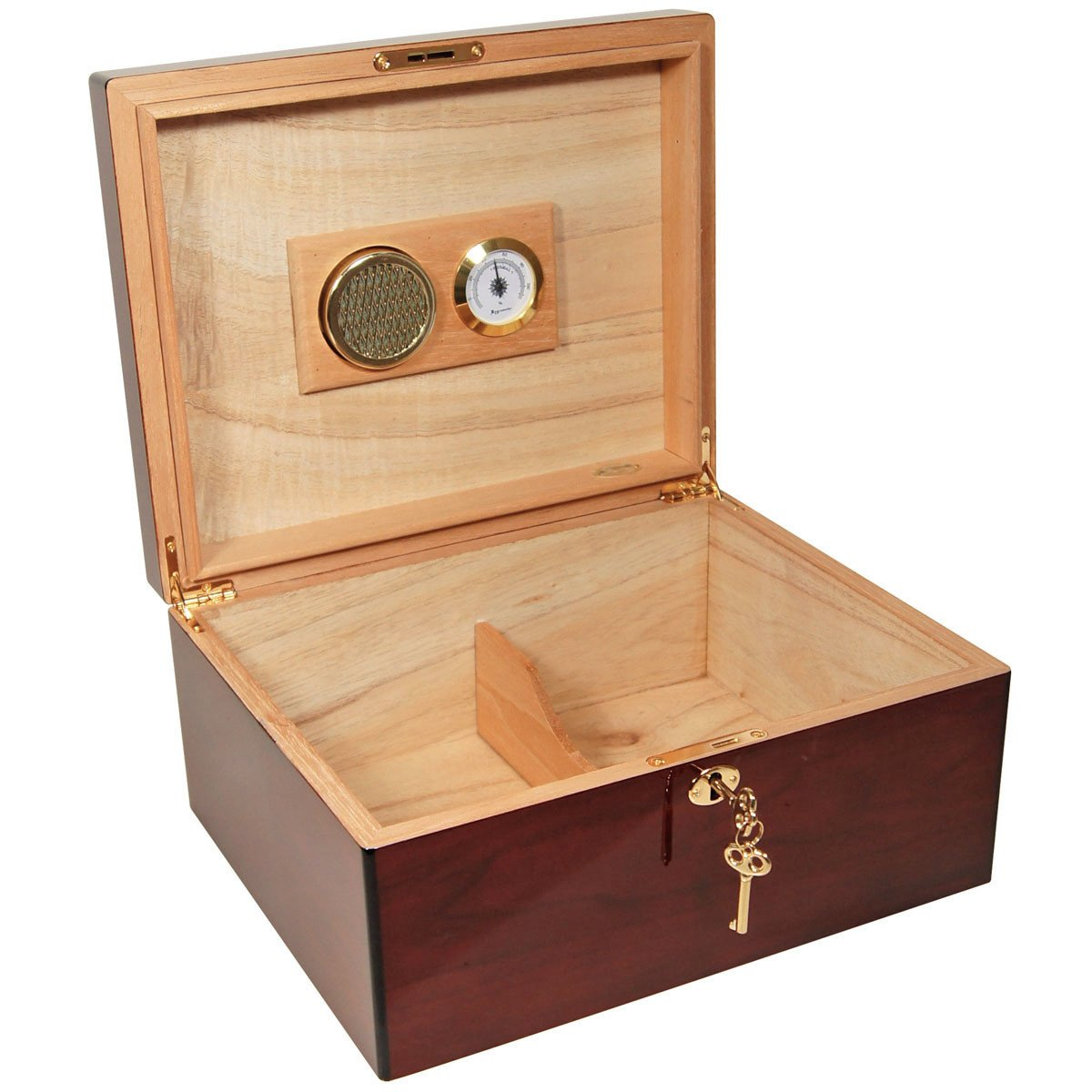 COMBO Set Humidor AMOR 425 for 75 cigars / Perfect Cutter / Ashtray / Humsol