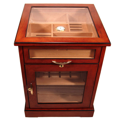 Cuban Crafters Cabinet Humidors End Table Humidor for 600 Cigars Free Shipping - Humidors Wholesaler