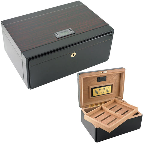 Embajador Digital Hygrometer Humidor for 120 Cigars - Cigar boulevard