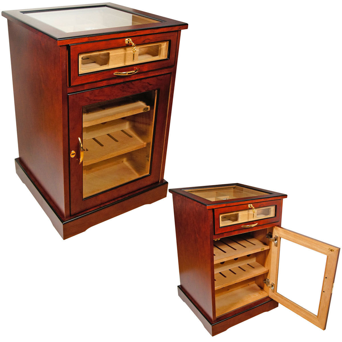 Wine and Cigars Cabinet Humidor End Table Humidor - Free Shipping - Humidors Wholesaler