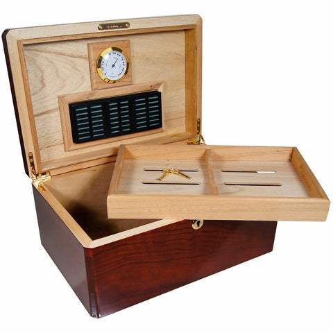 Cuban Crafters Designer COLORES MADERA Wood Bubinga Humidor for 100 Cigars