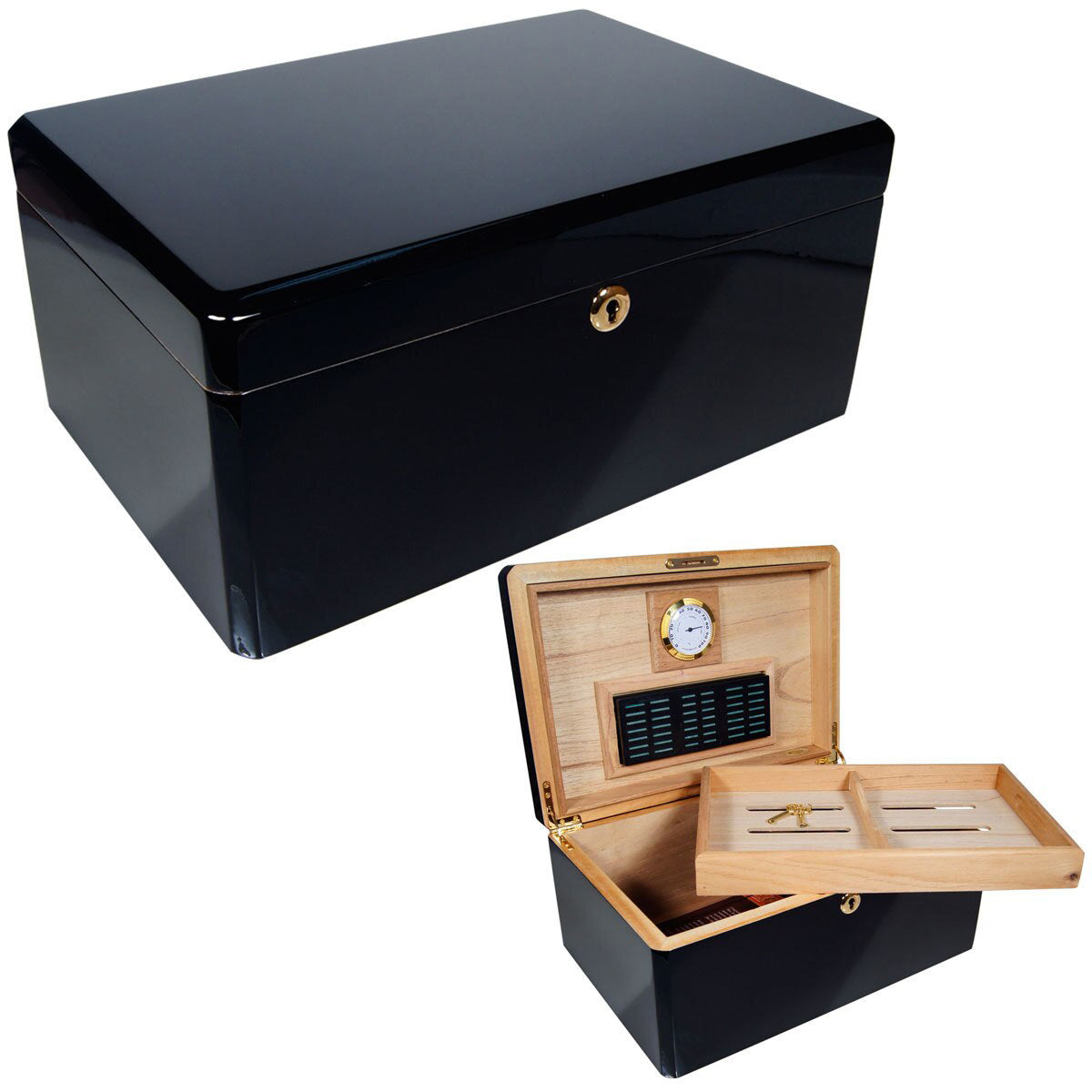 Cuban Crafters Designer COLORES NEGRO Humidors for 100 Cigars